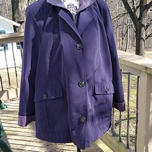 Gallery petite XLP purple rain coat with liner